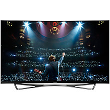 "Buy Panasonic Viera TX-65CZ952B OLED Curved 4K Ultra HD Smart TV, 65"" with Freeview HD/freetime and Built-In Wi-Fi Online at johnlewis.com"