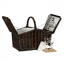 Buy John Lewis Coastal Hamper, Dark Brown, 4 Person Online at johnlewis.com