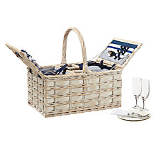 Buy John Lewis Coastal Hamper, Navy, 4 Person Online at johnlewis.com