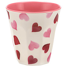 Buy Emma Bridgewater Pink Hearts Melamine Beaker Online at johnlewis.com
