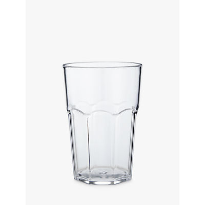 John Lewis The Basics Picnic Soda-Style Tumbler, Clear