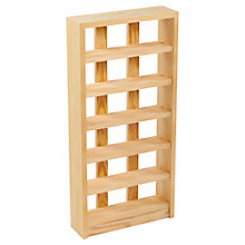Buy The Traditional Wine Rack Company Scallop Rack, 6 bottle, FSC-certified (Redwood) Online at johnlewis.com