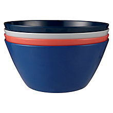 Buy John Lewis Coastal Plain Bowls, Set of 4 Online at johnlewis.com