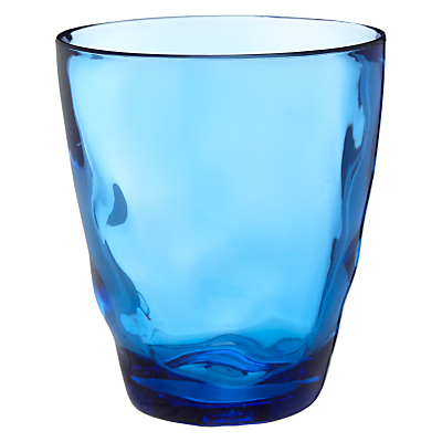 John Lewis Hand Blown Glass Effect Tumbler, Blue