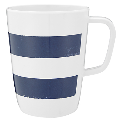 John Lewis Contemporary Mug Navy Blue & White Stripes