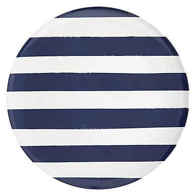 John Lewis Contemporary Dinner Plate Navy Blue & White Stripe