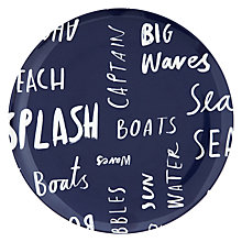 Buy John Lewis Coastal Melamine Side Plate, Word Art Online at johnlewis.com