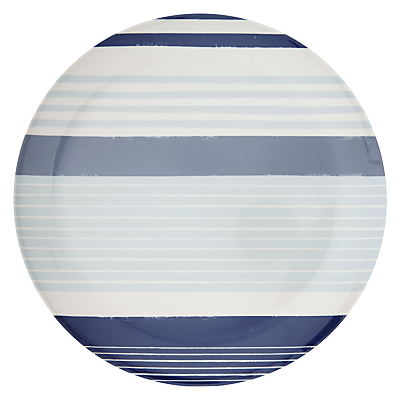 John Lewis Multi Stripe Dinner Plate