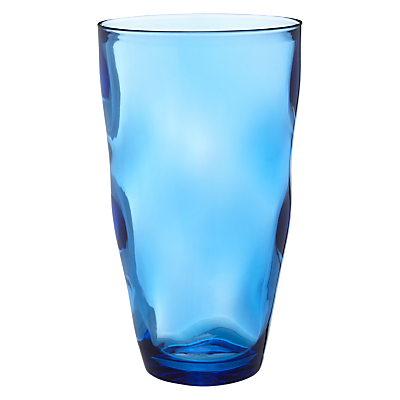 John Lewis Hand Blown Glass Effect Highball, Blue