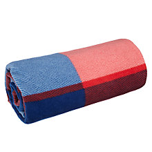 Buy John Lewis Coastal Epsom Fleece Picnic Rug and Bag, Navy/Red Online at johnlewis.com