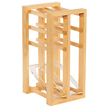 Buy The Traditional Wine Rack Company Wine Display Unit, 6-Bottle, FSC-Certified (Scandinavian Redwood) Online at johnlewis.com