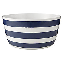 Buy John Lewis Contemporary Navy Blue & White Stripe Salad Bowl Online at johnlewis.com