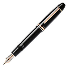 Buy Montblanc Meisterstück Red Gold 149 Fountain Pen, Black Online at johnlewis.com