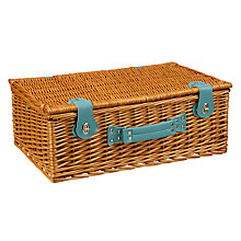 Buy MissPrint Picnic Hamper, Sapling, Aqua Trim Online at johnlewis.com