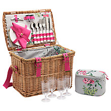 Buy Joules Picnic Hamper, 4 Person, Floral Online at johnlewis.com