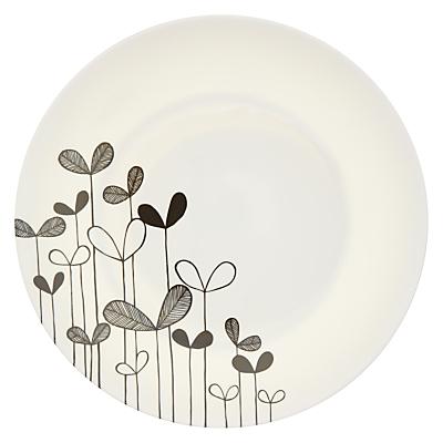 MissPrint Dinner Plate, Sapling, Monochrome