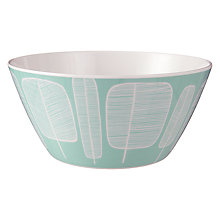 Buy MissPrint Melamine Bowl, Little Trees, Aqua Online at johnlewis.com