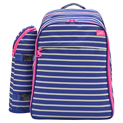 Joules Filled Picnic Rucksack, 4 Person, Stripe