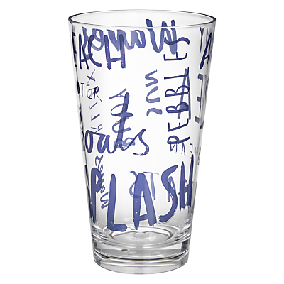 John Lewis Coastal Word Art Highball Glass