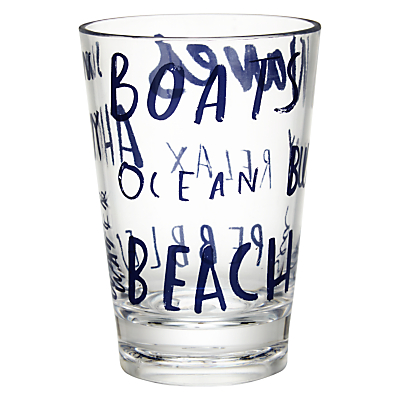 John Lewis Coastal Word Art Tumbler