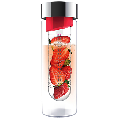 Asobu Pure Flavour It Glass Bottle, Red