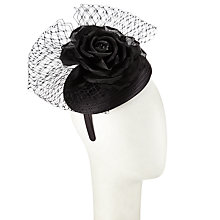 Buy John Lewis Esme Ribbed Pillbox Occasion Hat, Black Online at johnlewis.com