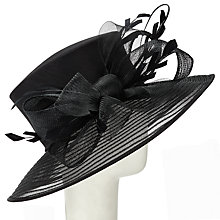 Buy John Lewis Molly Crin Brim Occasion Hat, Black Online at johnlewis.com