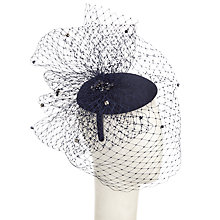 Buy John Lewis Sofia Pillbox Veiling Diamante Occasion Hat, Navy Online at johnlewis.com