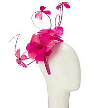 Buy John Lewis Isla Feather Butterfly Fascinator, Fuchsia Online at johnlewis.com