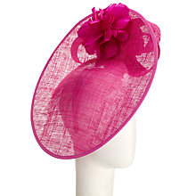 Buy John Lewis Lexi Upturn Disc Occasion Hat, Magenta Online at johnlewis.com