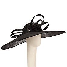 Buy John Lewis Lea Large Diamante Crown Occasion Hat, Black Online at johnlewis.com