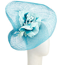 Buy John Lewis Maya Silk Flower Occasion Hat, Turquoise Online at johnlewis.com