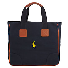 Buy Polo Golf by Ralph Lauren Cotton Canvas Tote Bag, Aviator Navy Online at johnlewis.com