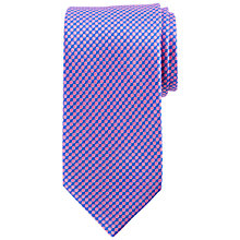 Buy John Lewis Contrast Spot Silk Tie, Blue/Pink Online at johnlewis.com