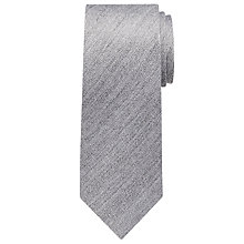 Buy John Lewis Plain Wool Look Tie, Grey Online at johnlewis.com