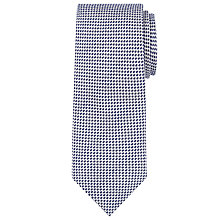 Buy John Lewis Semi Plain Silk Wool Tie, Silver/Navy Online at johnlewis.com