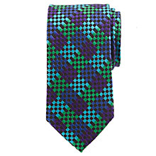 Buy John Lewis Party Square Check Silk Tie Online at johnlewis.com