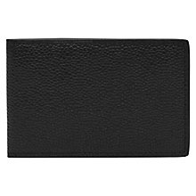 Buy Reiss Leon Leather Fold Wallet, Black Online at johnlewis.com