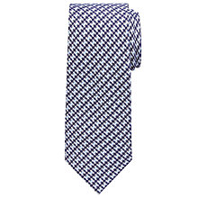 Buy John Lewis Cotton Feel Check Tie, Blue Online at johnlewis.com