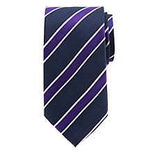 Buy John Lewis Regimental Striped Silk Tie Online at johnlewis.com