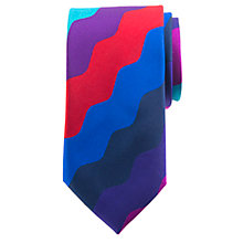 Buy John Lewis Party Stripe Silk Tie, Multi Online at johnlewis.com