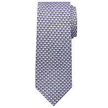 Buy John Lewis Wool Silk Triangle Tie, Navy/Grey Online at johnlewis.com