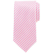 Buy Daniel Hechter Fine Stripe Silk Tie, Navy/Pink Online at johnlewis.com