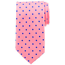 Buy John Lewis Matt Base Dot Silk Tie Online at johnlewis.com