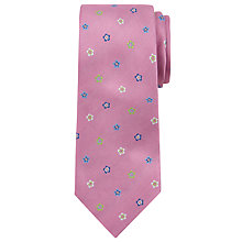 Buy Richard James Mayfair Mini Flower Silk Tie, Pale Pink Online at johnlewis.com