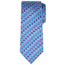 Buy Richard James Mayfair Crossweave Silk Tie, Blue Online at johnlewis.com