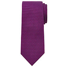 Buy Richard James Mayfair Semi Plain Tie, Fuchsia Online at johnlewis.com