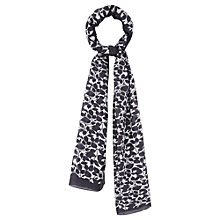 Buy Viyella Leaf Print Scarf, Navy Online at johnlewis.com