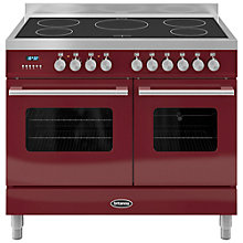 Buy Britannia RC-10TI-DE Delphi Induction Hob Range Cooker, Red Online at johnlewis.com