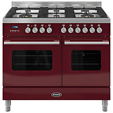 Buy Britannia RC-10TG-DE Delphi Dual Fuel Range Cooker, Red Online at johnlewis.com